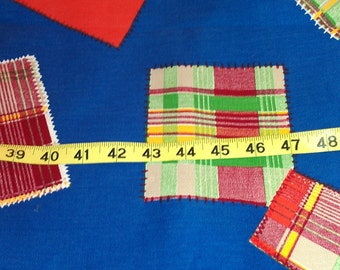 Cotton Denim Type with Patch Print ove 2-1/2yd