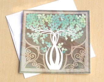 Birch Tree - 5x5 blank card