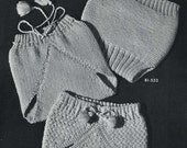 Vintage Knitting PATTERN B1 527 Knit Crochet Soakers ( Pants ) for Baby 1950s PDF file instant download