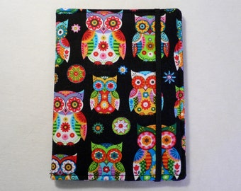 Kindle Cover Hardcover, Kindle Case, eReader, Kobo, Nook, Nexus 7, Kindle Fire HDX, Kindle Paperwhite, Owls on Black