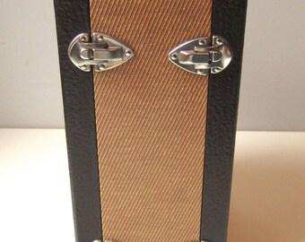 Vintage Barnett and Jaffe - B&J  Sequence Unifile - Tweed Slide Case
