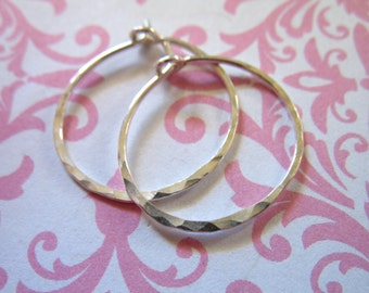 """Shop Sale..1 5 10 pairs, 1.5"""" in Sterling Silver HAMMERED HOOPS Earrings, 1 1/2 inch, Artisan interchangable add a dangle hp ihm.h"""