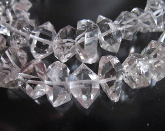 Shop Sale.. 10 pcs, 7-8.5 mm Herkimer Diamonds Nuggets Double Terminated Briolettes, Luxe AAA, healing nuggets, s