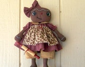 Primitive Folk Art Gingerbread Girl Art Doll and Wooden Rolling Pin Cookies Kitchen Decor ofg hafair faap Christmas