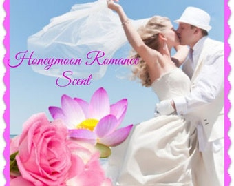 HONEYMOON ROMANCE Scented Soy Wax Melts - Feminine - Sexy - Flameless Wickless Soy Candle - Highly Scented - Air Freshener - Handmade In USA