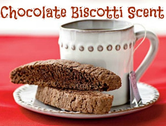 CHOCOLATE BISCOTTI Scented Soy Wax Melts - Dessert - Flameless Wickless Soy Candle Tarts - Highly Scented - Handmade In USA
