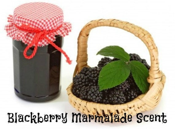 BLACKBERRY MARMALADE Scented Soy Wax Melts - Soy Wax Flameless Wickless Candle Tarts - Highly Scented - Handmade & Poured In USA