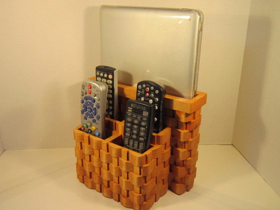 Tablet, LapTop, 4 TV Remote Organizer Handmade