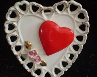 SALE Vintage Samson Imports RELPO Heart Valentine Planter Head Vase Love Headvase
