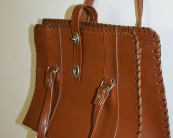 Vintage 1970's Tan Handbag