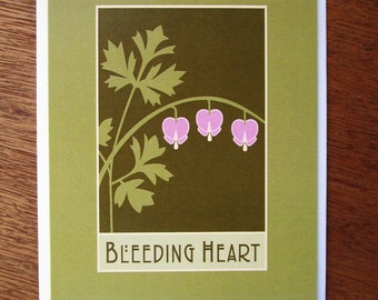 Bleeding Heart Note Card