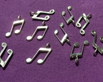 Musical Notes Pewter Charms