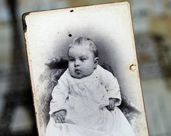 cabinet portrait of a baby in white...  Nov K