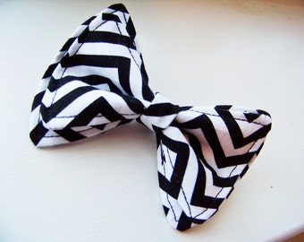 Boys Bow Tie - Black and White Chevron Bow Tie - Bow Tie - Bow Ties Toddler - Newborn Bow Tie - Black and White Bow Tie - Chevron Tie