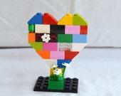 Lego Knick Knack Decoration Geekery Novelty Tchotchke Multi Colored Lego Heart Business Card Holder Cake Topper