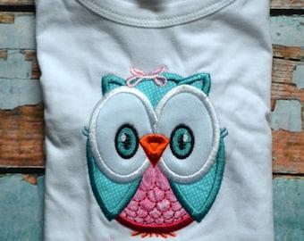 Owl Birthday Shirt, Girls Birthday Shirt