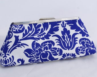ON SALE Purple Floral Clutch Handbag
