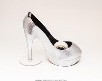 Glitter Silver High Heel Tape Dispenser by Princess Pumps