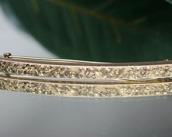 Vintage 14k  Bar Pin