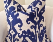Indigo Blue Pillow Cover Ikat Pillow Decorative Pillow Throw Pillow Cushion Accent Pillow Toss Pillow