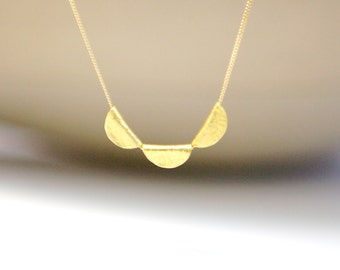 Fine Jewelry Solid Gold Necklace 18k 22k Gold Silk Cord Gold Chain Necklace Anniversary Gift for Her Mother Daughter Wife Simple Gold Charm