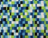 2515C - Mosaic Fabric in Blue and Green Combo