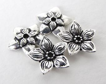 TierraCast Antiqued Silver Ox Flower Bead Cap Star Jasmine 11mm bcp0058 (4)