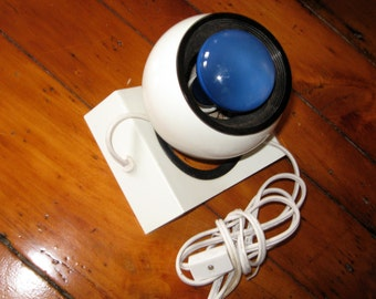 Small Eyeball Lamp - Space Age Modern in White