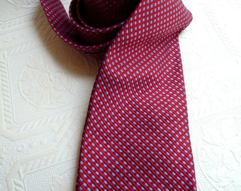 Brooks Brothers, New Vintage Necktie, Men's Necktie, Red Blue Tie, Men's Tie, Checkered Necktie, Mens Accessories, Store Tag, Dress Shirt
