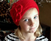 Alexis Head Band With Crochet And Knitted Flower Size 4 - 6 Years