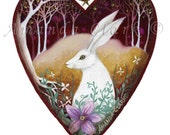Heart art print. 'April Eve'.  By Amanda Clark. A beautiful gift for a loved one or for creating a collection of my other 'heart' prints.