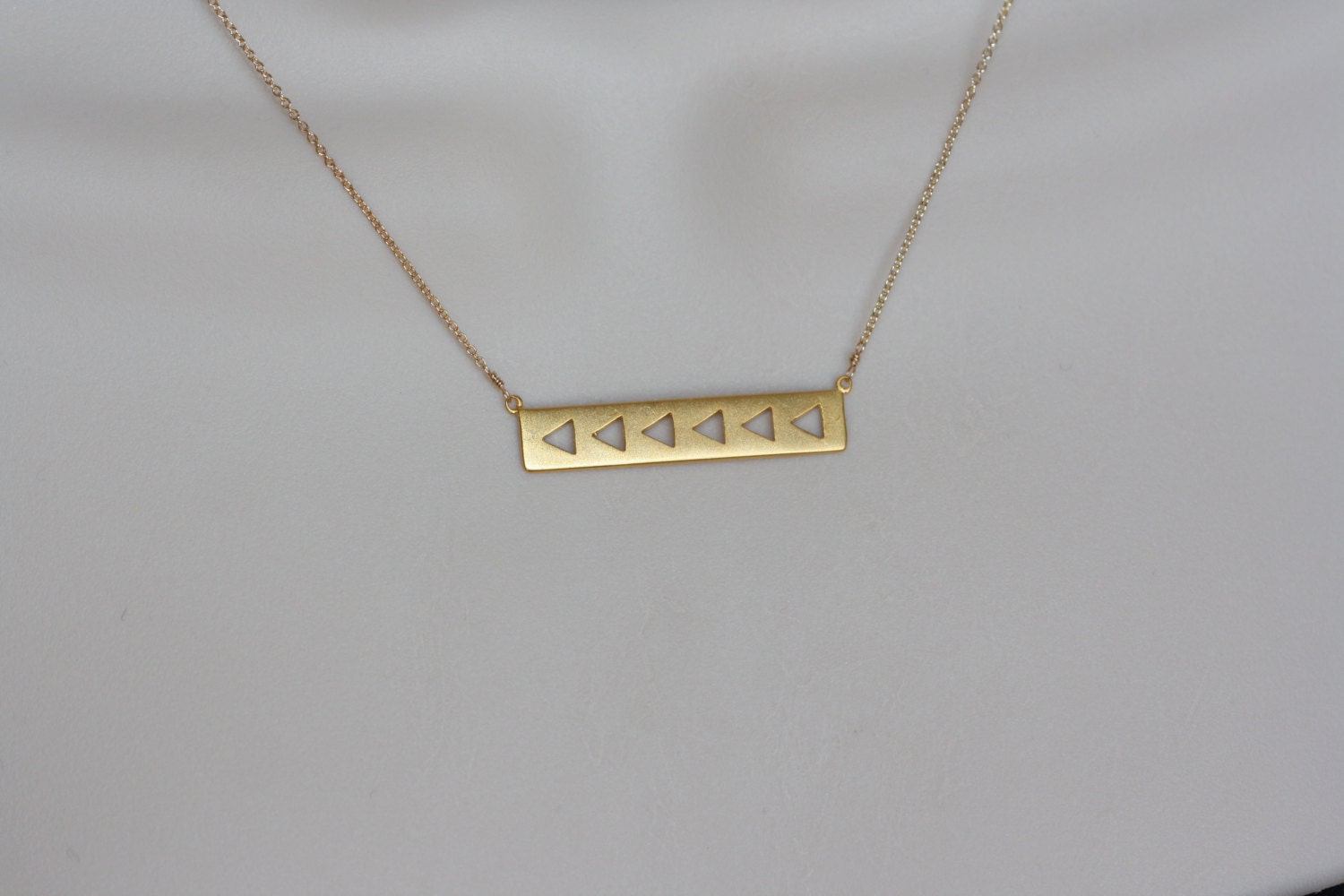 gold bar modern necklace gift for wife summer trend simple