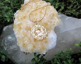 Vintage 14Kt Gold Chinese Dragon Zodiac Charm Pendant -Chinese Dragon Gold Charm