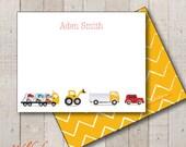 Kids Stationery // Boys Stationary // Baby Shower Thank You // Birthday Thank You // Cars Vehicle Stationery