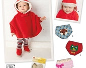 Infants' Hooded Poncho, Diaper Covers, Booties, and Hats - Simplicity 1734 - New Sewing Pattern, Sizes Newborn to Toddler