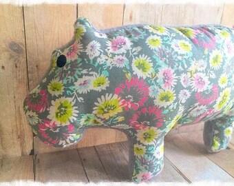 Plush Hippo Stuffed Toy