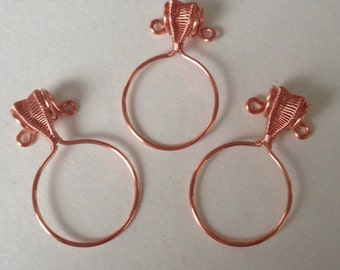 Wire Wrapped Copper Pendant Frames