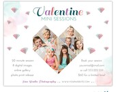 Valentine Mini Session Template for Photographers - INSTANT DOWNLOAD