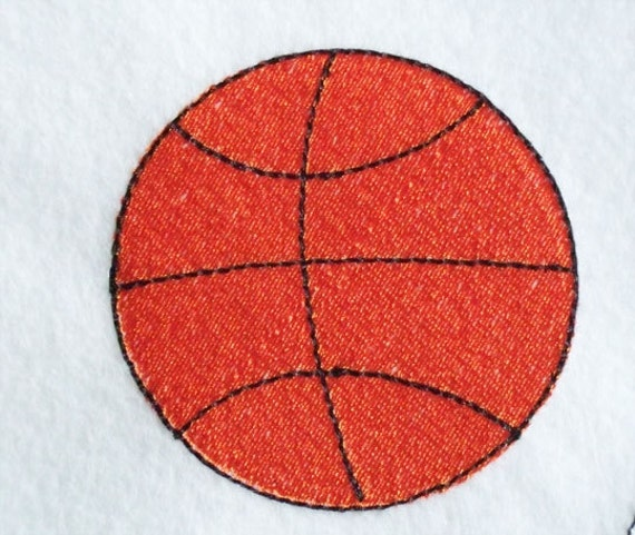 Embroidered Terry Cloth Hand Towels: Basketball Embroidered Terry Kitchen Towel Bathroom Hand Towel
