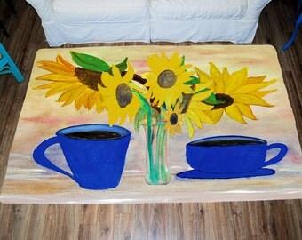 Sunflower Area Rug Etsy