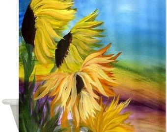 Sunflower Field Art Shower Curtain