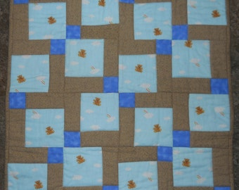 Preemie or Baby quilt   (security blanket) --  new  (23 x 23)