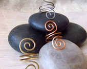 Adjustable Spiral Statement Ring, Spiral Cocktail Ring, Hammered Ring, Copper Ring, Steel Ring, Brass Ring, Gold, Copper, Stainless