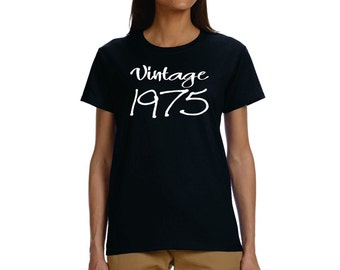 Shirt Vintage 1975 Adult 40th Birthday Gift