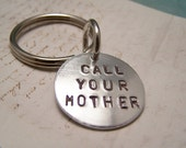 Call Your Mother Keychain. Graduation Gift. Funny. Remember to Call.Leaving Home