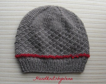 """Instant Download Number 191 Knitting Pattern Hat """"Emma"""" in Size Adult"""