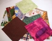 5 Inch Fabric Charms, Nickel Squares, PreCut Squares
