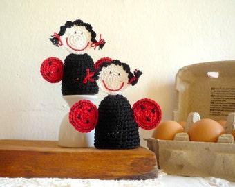 Crochet Ladybug Egg Cozy, Egg warmers- Set of 2