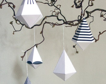 DIAMANT.PASTEL paper decoration diamonds DIY