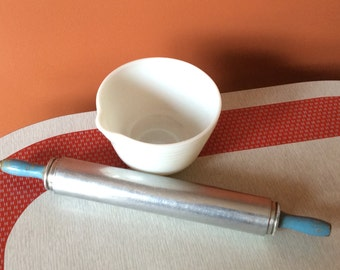 Vintage aluminum pastry rolling pin